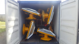 Maxam 3300mowers in shipping container