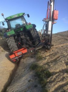 Ultra G3 with Sidemount unit on Duetz Tractor steep fenceline